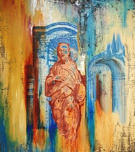 24123-MONK IN SAINTHOOD 60HX40W