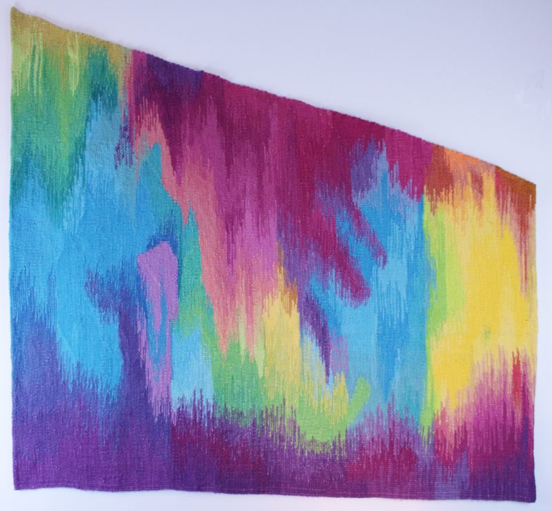 32233-IRIDESCENT WATERFALL-1984-WOOL TAPESTRY-60H X 63W-web