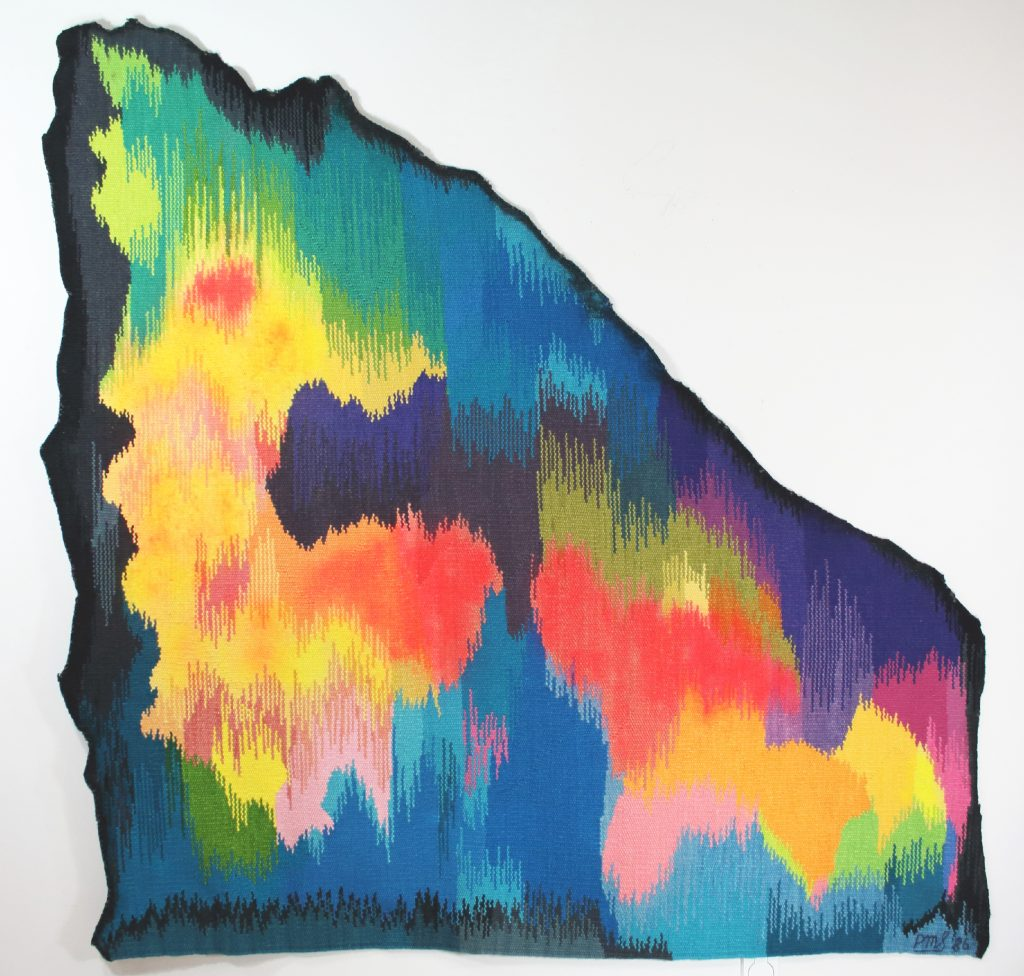 LAKE DWELLERS SACRED COVE-1986-tapestry wool & cotton-336068 - 185 cm X 185 cm