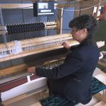 Paulette weaving on 16 shaft Dobby loom