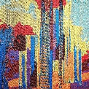 CITY SUNRISE KPMG-27 inches H X 22 W-woven tapestry Cotton