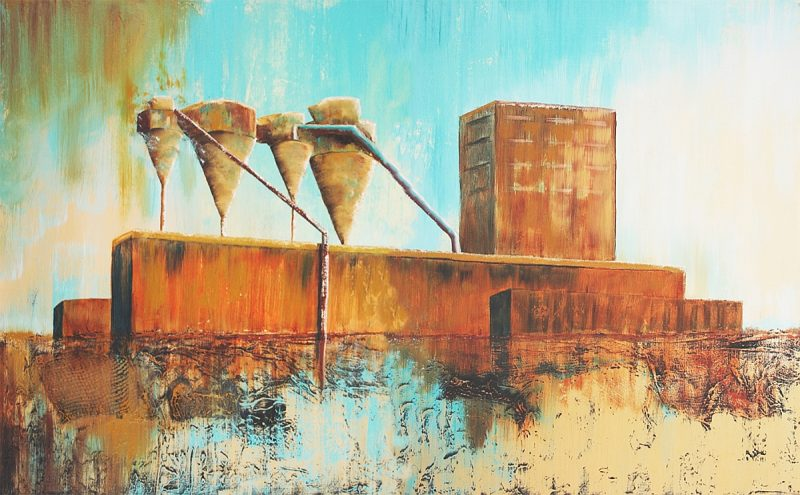 23134-&-23142 FOUR SILOS IN OLD PORT-30H X 48W-DIPTYCH