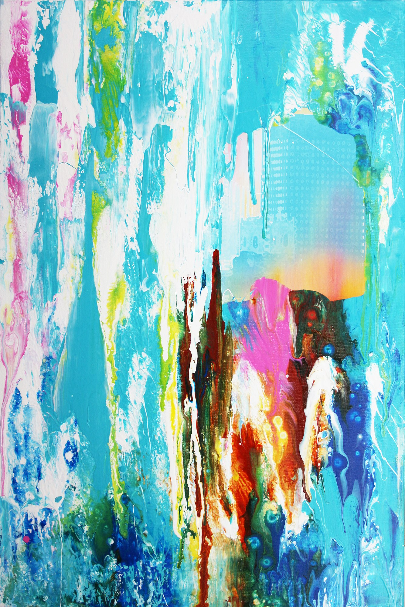 Calming Diptych Wall Abstract Paintings Decor X