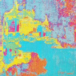le-vieux-port-tapestry-mixed-media